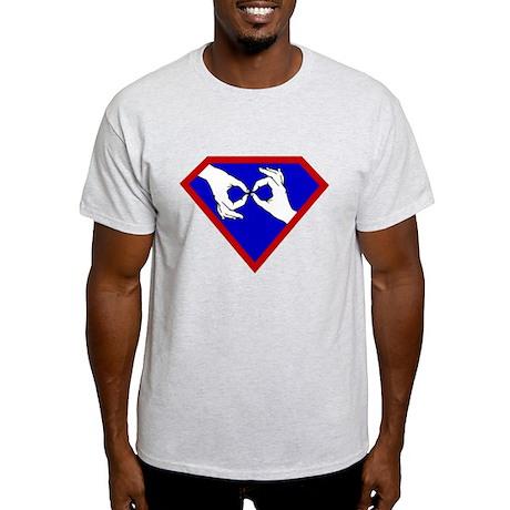 Super ASL Interpreter - Blue Light T-Shirt