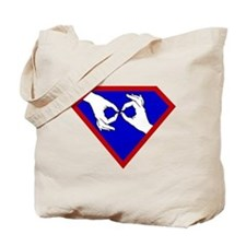 Super ASL Interpreter - Blue Tote Bag