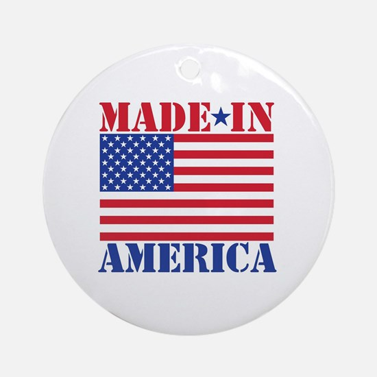 Made in America Round Ornament