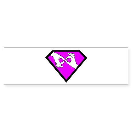 Super ASL Interpreter - Pink Bumper Sticker