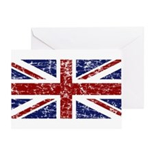 """""""Red Navy Union Jack"""" Greeting Card"""