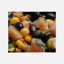 Blackbean and Corn Salad Throw Blanket