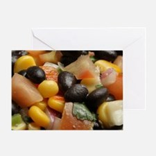 Blackbean and Corn Salad Greeting Card