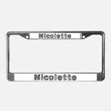 Nicolette Wolf License Plate Frame
