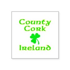 "Cute Kiss me i'm irish Square Sticker 3"" x 3"""