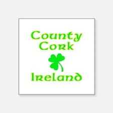 "Cute Irish map Square Sticker 3"" x 3"""