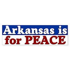 Arkansas is for Peace Bumper Bumper Sticker