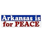 Arkansas is for Peace Bumper Sticker