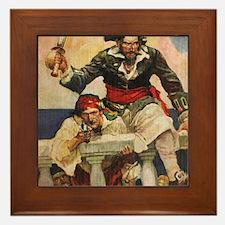 Blackbeard the Buccanneer  Framed Tile