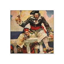 """Blackbeard the Buccanneer  Square Sticker 3"""" x 3"""""""