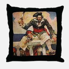 Blackbeard the Buccanneer  Throw Pillow