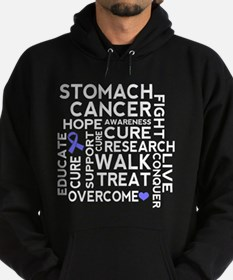 Stomach Cancer Word Cloud Hoodie