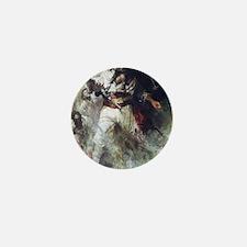 Blackbeard in Smoke and Flames Mini Button
