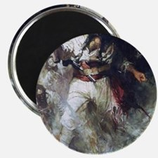Blackbeard in Smoke and Flames Magnet