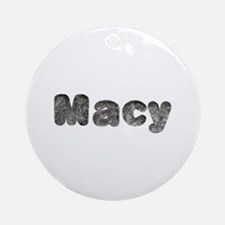 Macy Wolf Round Ornament