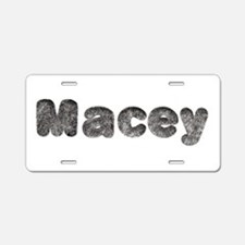 Macey Wolf Aluminum License Plate