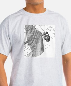 Blackbeard's Head Being hung from th T-Shirt