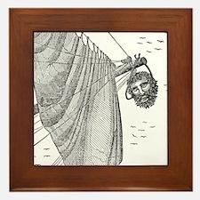 Blackbeard's Head Being hung from the  Framed Tile