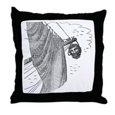Blackbeard's Head Being hung from the Throw Pillow