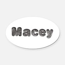 Macey Wolf Oval Car Magnet