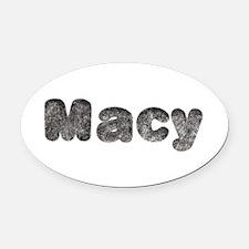 Macy Wolf Oval Car Magnet