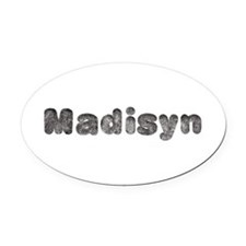 Madisyn Wolf Oval Car Magnet