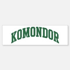 Komondor (green) Bumper Bumper Bumper Sticker