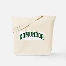 Komondor (green) Tote Bag