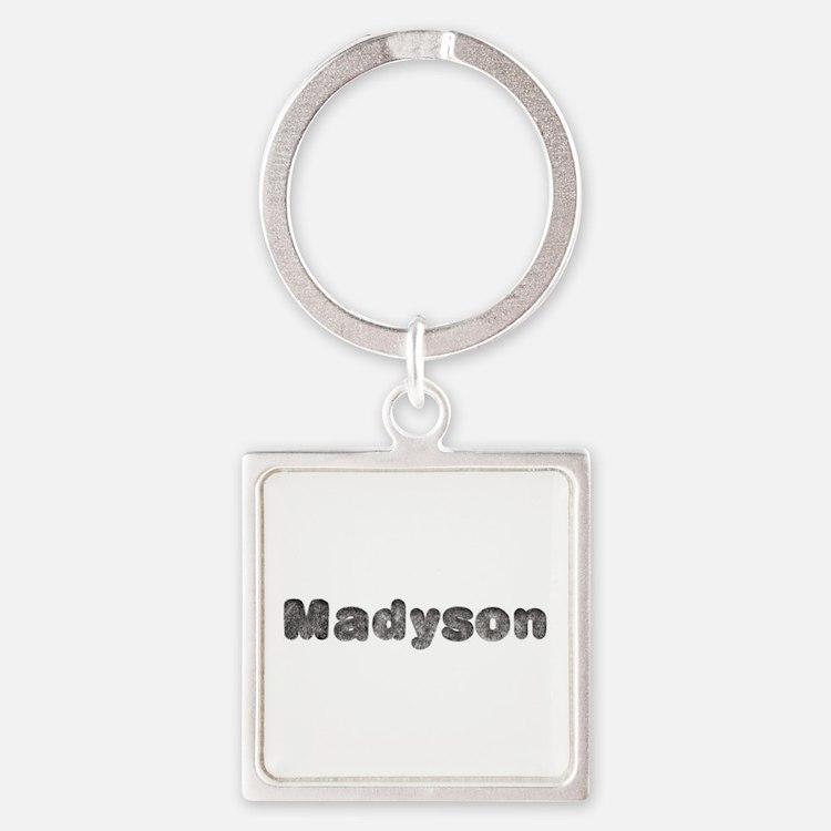 Madyson Wolf Square Keychain