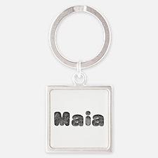 Maia Wolf Square Keychain