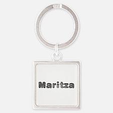 Maritza Wolf Square Keychain