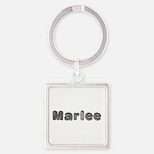 Marlee Wolf Square Keychain
