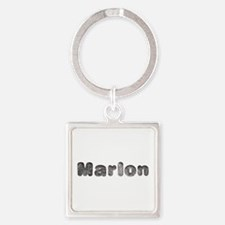 Marlon Wolf Square Keychain