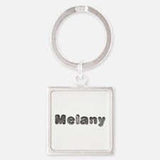 Melany Wolf Square Keychain
