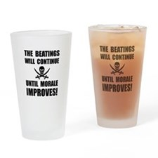 Beatings Morale Improve Drinking Glass