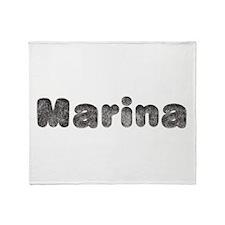 Marina Wolf Throw Blanket