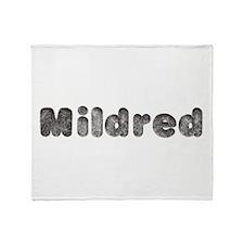 Mildred Wolf Throw Blanket