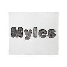 Myles Wolf Throw Blanket