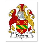 Zachary Family Crest Small Poster