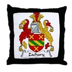 Zachary Family Crest Throw Pillow