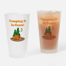Camping In Tents Drinking Glass