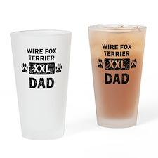 Wire Fox Terrier Dad Drinking Glass