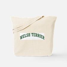 Welsh Terrier (green) Tote Bag