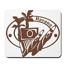 Havana Passport Stamp Mousepad