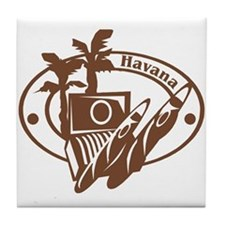 Havana Passport Stamp Tile Coaster