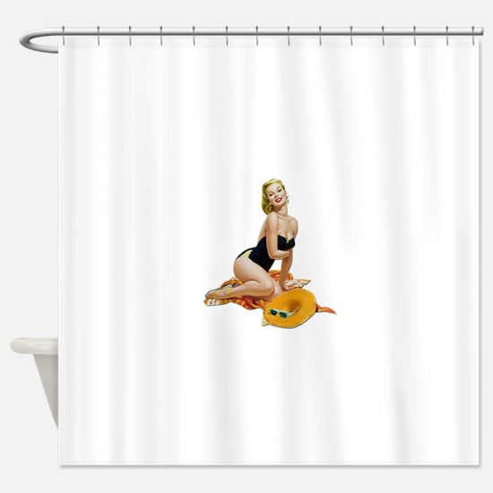 Pin-Up 001 Shower Curtain