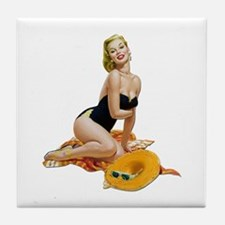 Pin-Up 001 Tile Coaster
