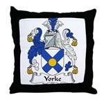 Yorke Family Crest Throw Pillow