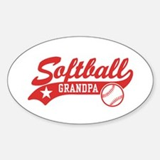 Softball Grandpa Decal
