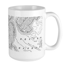 Vintage Map of Boston (1878)  Mug